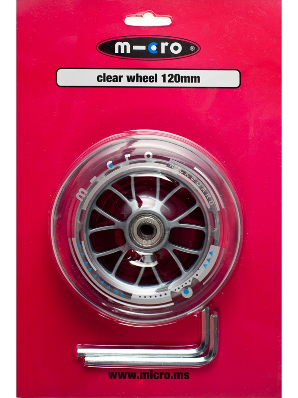Micro - Roue 120 mm clear (
