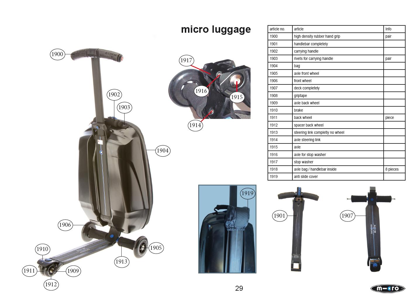 Micro - Axe roue arrière pour