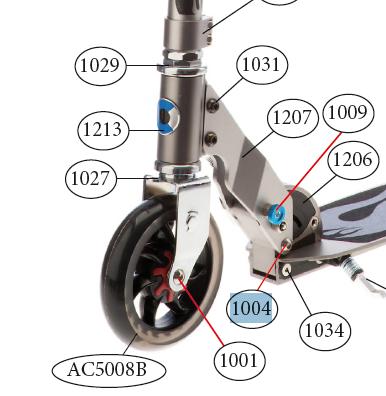 Micro - axe 44 mm (1004)
