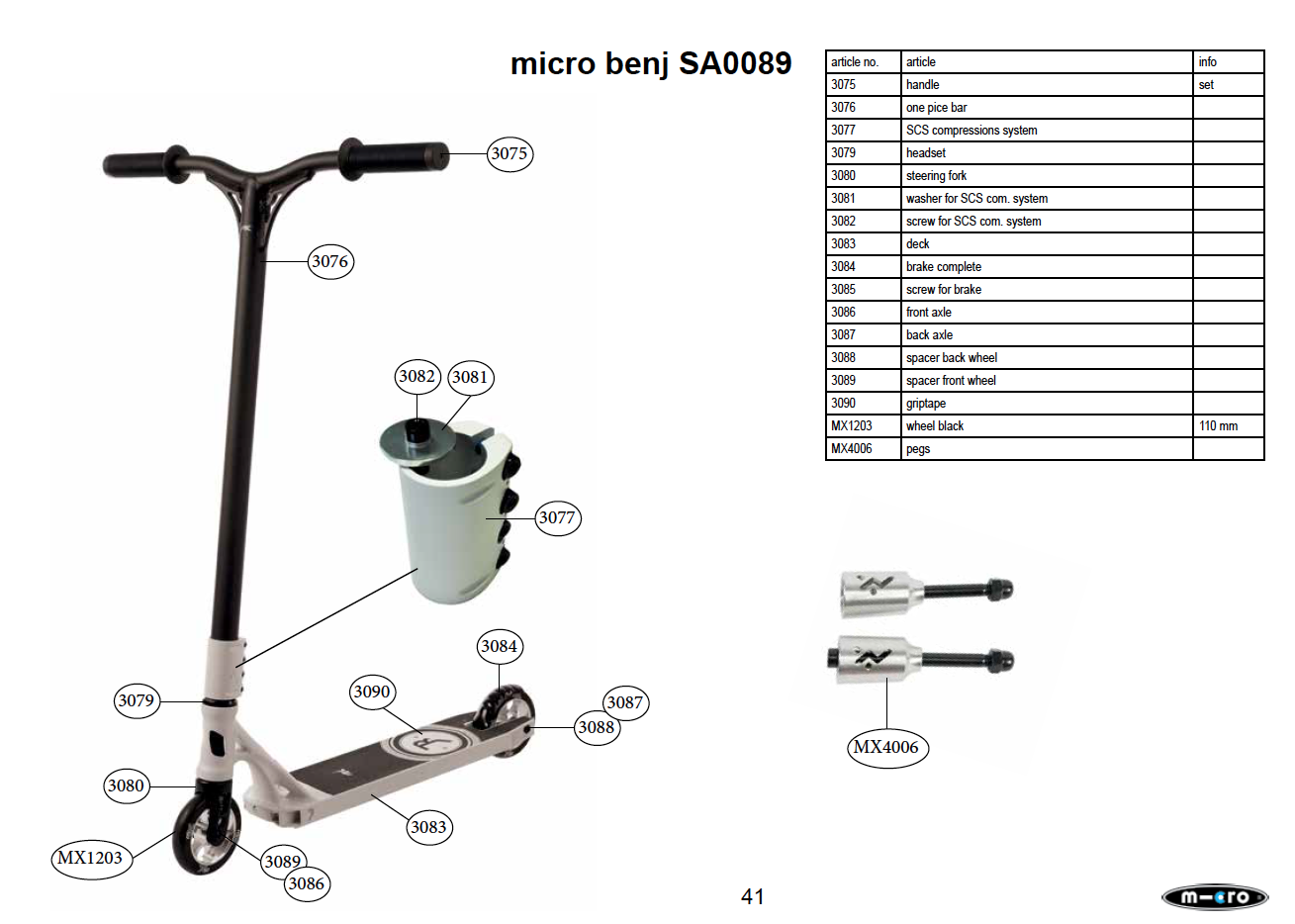 Micro - front axle (3086)
