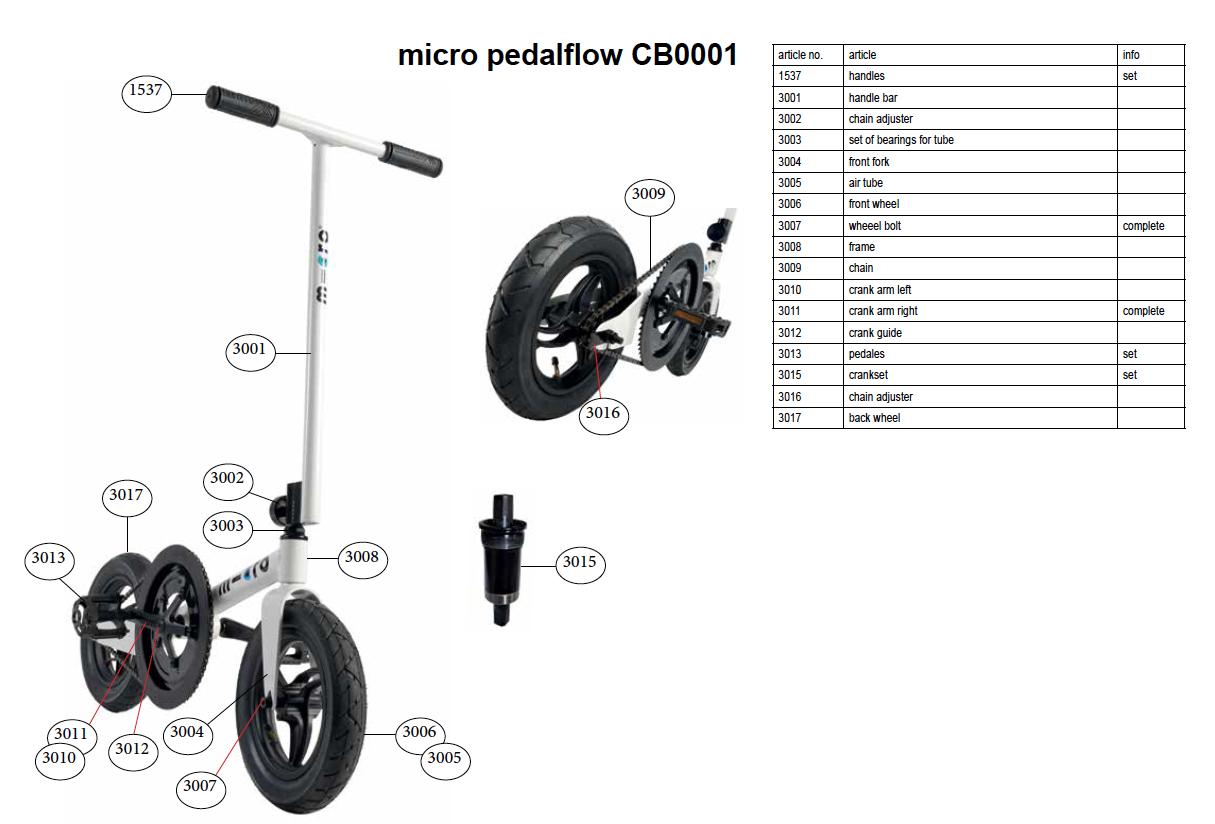 Micro - 3001 Guidon PedalFow